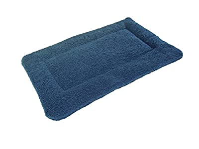 PnH® Blue Sherpa Fleece Quilted Cat Pad Bed - 51cm x 76cm