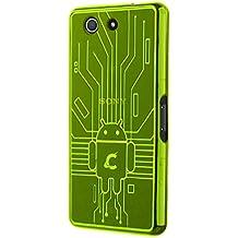 Cruzerlite Bugdroid Circuit - Funda para móvil Sony Xperia Z3 Compact, verde