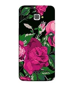 PrintVisa Animated Pink Flowers 3D Hard Polycarbonate Designer Back Case Cover for InFocus M350