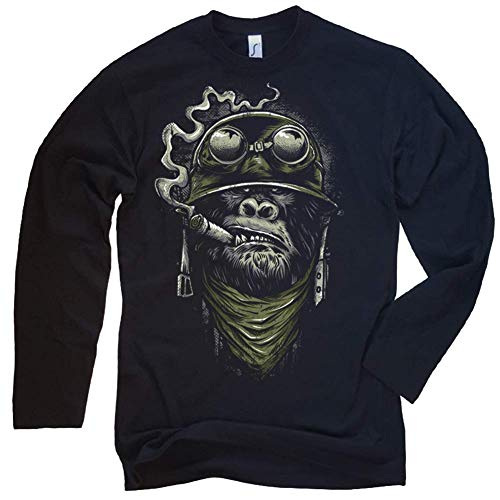 NG articlezz Biker Longsleeve - Gorilla Monkey Kultiges Langarmshirt für die Motorradfahrer unter Euch. Gr. S-XXL -