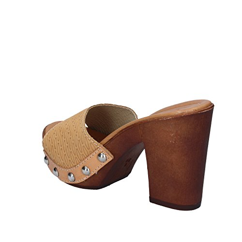 MADE IN ITALY Mules Pour Femme Marrone cuoio