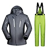 Warm ski suit Ski Suit Men's Suit Winter Outdoor Waterproof Windproof Moisture Thickening Large Size Windproof and cold-proof warm jacket (Color : C8, Size : XL) Bild