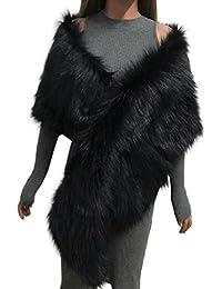 c43531a3281d HUHU833 Écharpe femme hiver écharpe châle écharpe Faux Fox Fourrure ...