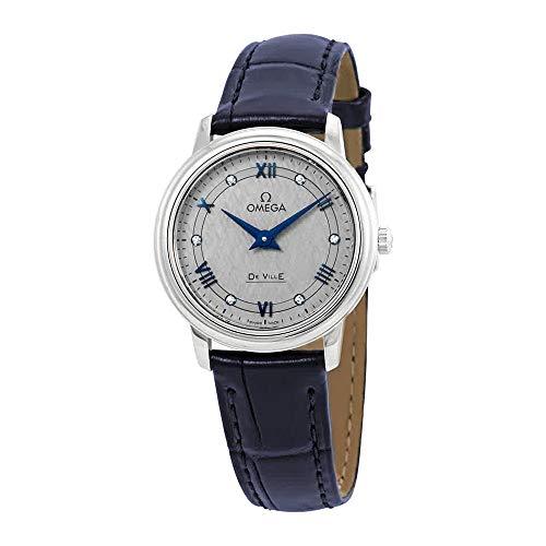 Omega De Ville Prestige Diamond Grey Dial Ladies Watch 424.13.27.60.56.001