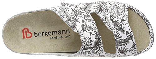 Berkemann Daria Damen Pantoletten Mehrfarbig (Schwarz/Weiß)