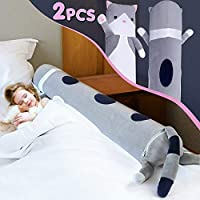 Bed Rails for Toddlers 2-Pack Inflatable Baby Safety Bed Rail Cartoon Style Pillow Guard Bumpers for Home Travel