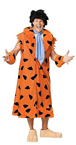 Large Kostüm Wilma Größe Feuerstein - narrenkiste R888436-XL orange-schwarz Herren Fred Feuerstein Flintstones Kostüm Gr.XL