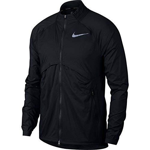 Nike Herren Jacke Shield Convertible, Black/Reflective Silver, L, 891432-010
