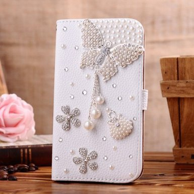 C-GUESS Nokia LUMIA 925 Jewelry Bling Diamond Gem Leather Smart Case Cover