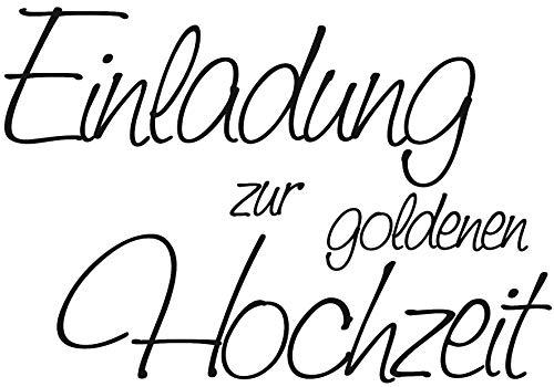 Knorr Prandell 211800004 211800004 Stempel aus Holz (Hochzeit) Motivgröße 6 x 4,2 cm, Motiv: Einladung zur goldenen Hochzeit