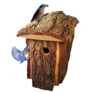 Best Birdhouse Made By Amish Artists, Traditional Natural Looking Pine To Attract Birds, Very Unique Bird House, Top Quality Design Of All Wooden Bird Houses