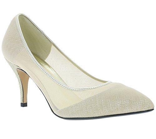 heine Heel Schuhe Damen Pumps Abendschuhe Gold 198328, Größenauswahl:38