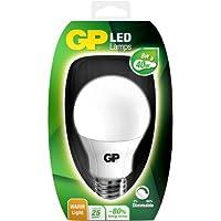 GP Lighting 069089-LDME1 8W E27 A Blanco cálido - Lámpara LED (Blanco cálido, Color blanco, A, 220-240, 11 cm, 60 mm)