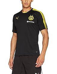 Puma Herren Bvb Training Jersey with Sponsor Logo T-Shirt, Gelb