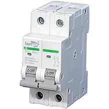 langir 10A 500V 2Pole Energía Solar Fotovoltaica de montaje en panel DC interruptor de circuito interruptor C curva con TUV Certificados