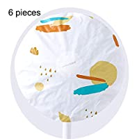 Benlasen 5 pieces Dustproof Fan Cover Ground Round Electric Fan Dust Cover All Inclusive Fan cover printing floor fan cover shaking head fan dust cover round universal electric fan cover