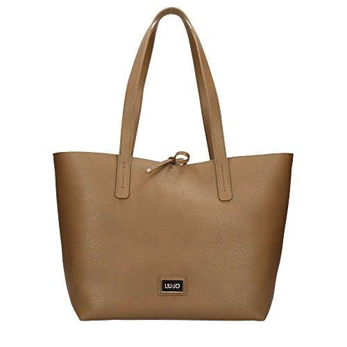 Borsa donna liu-jo shopping orizz. mod. narciso colore marrone con bustina b18lj33