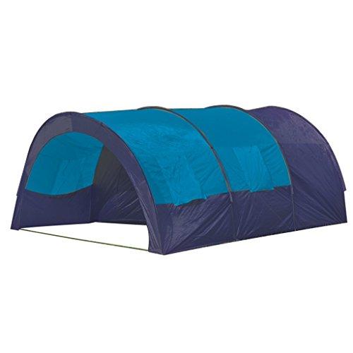 Festnight Tienda De Campaña Familiar Camping Tent Familiar (Tineda para 6 Personas) Azul-Azul Oscuro
