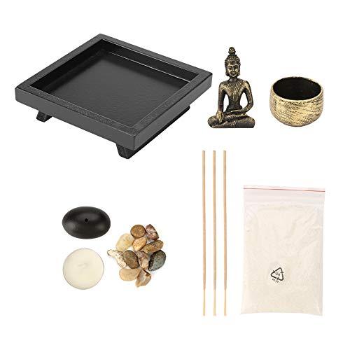 YD50 Buddha da tavolo Buddha Zen da giardino Bruciatore di incenso Vintage Vintage Bruciatore di incenso da tavolo, Porta-incenso per regalo di decorazioni per la casa