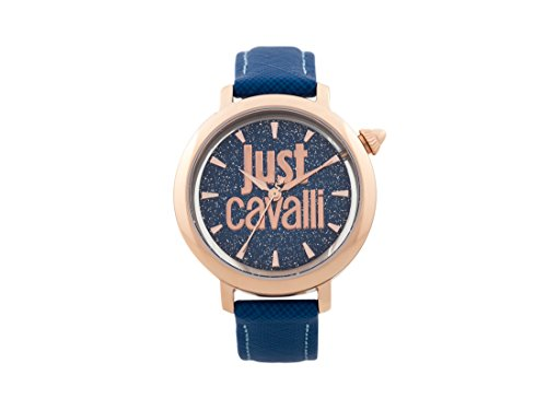 Just Cavalli Womens Analogue Quartz Watch with Leather Strap JC1L007L0035