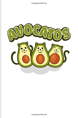Avocatos: Funny Vegetables Puns Undated Planner | Weekly & Monthly No Year Pocket Calendar | Medium 6x9 Softcover | For Cute Cats & Vegan Cooking Fans