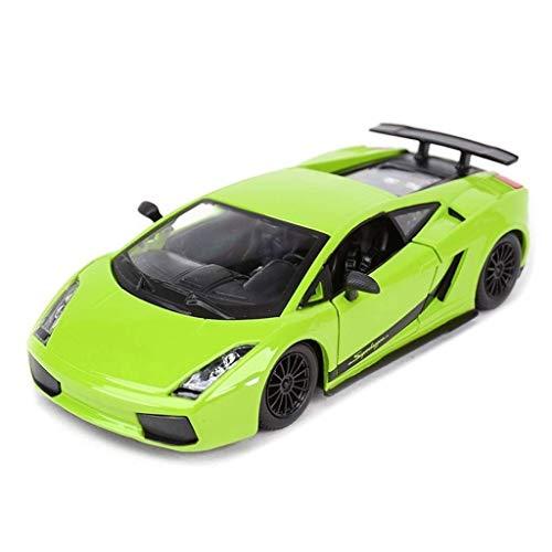 Modelo de coche Modelo de simulación de coche Modelo de aleación de metal Modelo de coche deportivo Adornos Regalo de juguete Vehículos para adultos Niños de madera y Mustang Niños pequeños Coche de