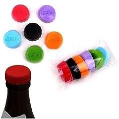 Idea Regalo - EQLEF® 12 pezzi di bottiglia creativo del silicone Tappo birra o vino Risparmiatori silicone colorato tappo di bottiglia in gomma