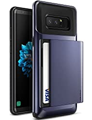 Samsung Galaxy Note 8 Case, VRS Design® [Orchid Grey] Protective Wallet Case with 2 Card Slot [Damda Glide] ShockProof Premium TPU Layered Phone Cover for Galaxy Note 8 (2017)