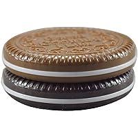 Frcolor Schokoladen-Plätzchen-kompakter Taschenspiegel mit Kamm-Frauen-Make-up (gelegentliche Farbe)