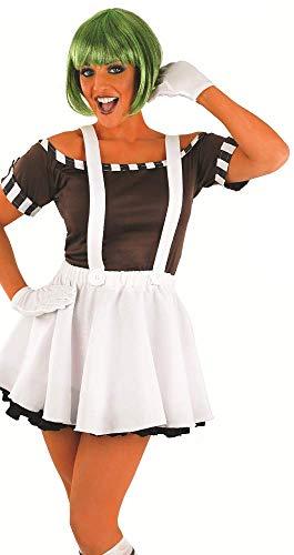 Halloween Kostüm Loompa Oompa - Fancy Me 5 STK. Damen Sexy Oompa Loompa Perücke Halloween büchertag Kostüm Kleid Outfit 8-22 Übergröße - Weiß, UK 20-22