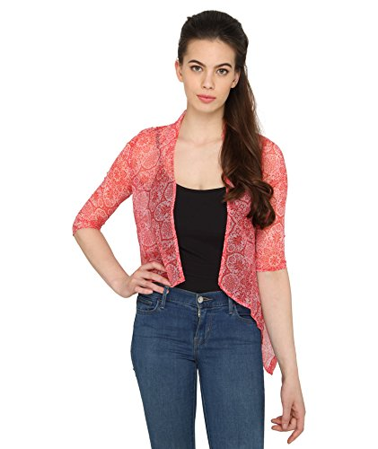 Bedazzle-Women-s-Red-Shrug