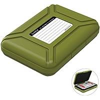 """ORICO Festplattentasche Schutztasche Schutzbox (3.5"""", Grün) - Aufbewahrungstasche für 3,5 Zoll Festplatten Western Digital WD Seagate Toshiba Samsung Intenso"""