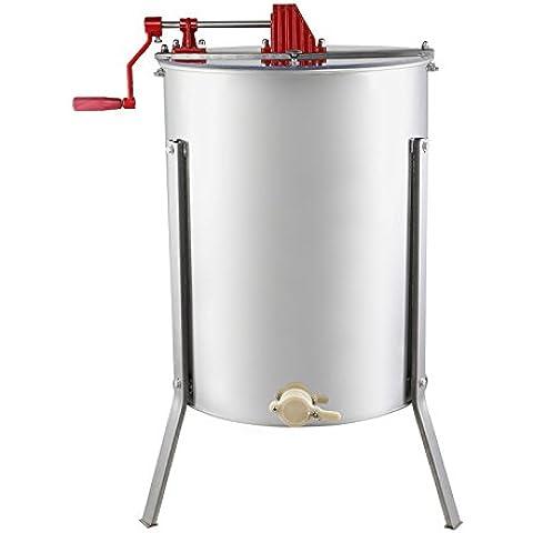 HPcutter Colador de Miel Centrifugador Honey Extractor Acero Inoxidable Apicultura (4 Panales