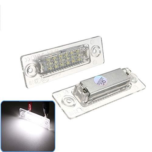 LanLan 2pcs / Set Feux de Plaque d'immatriculation de Voiture Lampe pour VW/Passat B5 Caddy T5