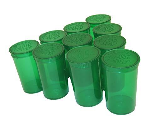 London Poptops 100x Grün + RX Etiketten Pop Top Container 80ml Squeeze Flakon Medical Kräuter Pillendose 19Dram-Flaschen -