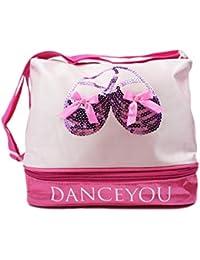 DANCE YOU Bolsa de Ballet Danza Deportes para Niña Tote Bolsa de satén  Personalizada Bordada Princesa 730f2334ea718