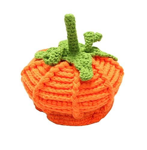 Hillento Baby Stricken Kürbishüte, Neugeborene Unisex Baby Beanie Wolle Kürbis Stricken häkeln Hüte für Halloween-Kappen, Fotografie Prop Hut