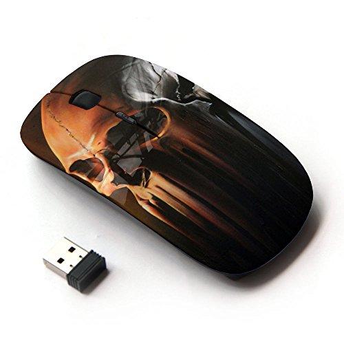 KawaiiMouse [ Mouse Senza Fili Ottico 2.4G ] Skull Art Melting Bone Head Death Decomposing