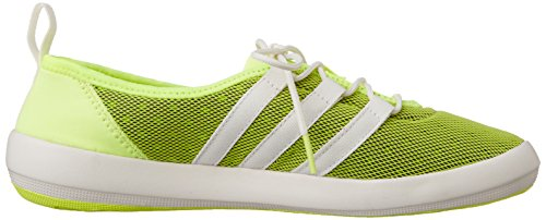 adidas Climacool Boat Sleek, Chaussures de Voile Femme, Mehrfarbig, 4.5 UK Gelb (Halo S16/Chalk White/Semi Solar Slime)
