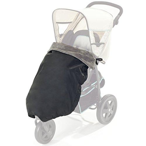 Zamboo Universal Beindecke für Kinderwagen und Buggy | warme Kinderwagendecke für Herbst und Winter - weiche Baby Krabbeldecke für zuhause - Schwarz Grau