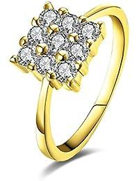 Blisfille Anillo Oro Versace Anillos Pareja Oro Anillos de Acero Inoxidable Anillos Compromiso Oro Blanco Anillos