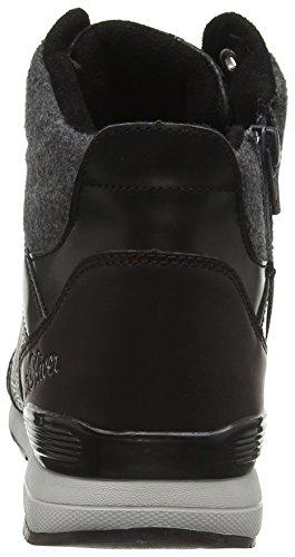 s.Oliver 25221, Baskets Basses Femme Noir (Black Comb 98)