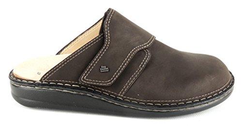"Finn Comfort Clog Homme ""Amalfi cuir nubuck 1515Marron Marron - Ebony"