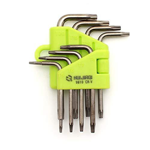 cohk 8PCS lang Arm Star Torx Inbus Innensechskant Schlüssel Schraubenschlüssel Schraubendreher-Set - Arm Torx