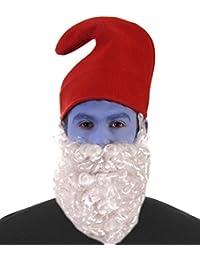 1980s Papa Gnome Red Hat White Beard Fancy Dress Christmas Accessory UK Nativity