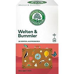 Lebensbaum Bio Tee Welten und Bummler 20 Sorten zum Probieren, 37 g