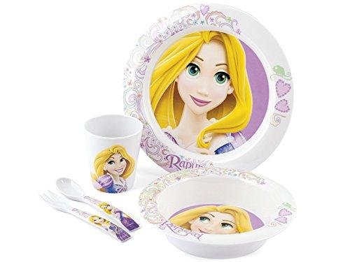 Disney Rapunzel Confezione Pappa Bimbo in Melammina, 5 Pezzi, Multicolore