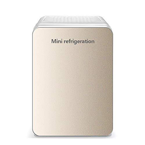LHAO 10L Auto Kühlschrank, Cools & Heats Persönlicher elektrischer Kühler, tragbarer Compact, Kühlschrank, Road Trips, Häuser, Büros und Schlafsäle,Gold