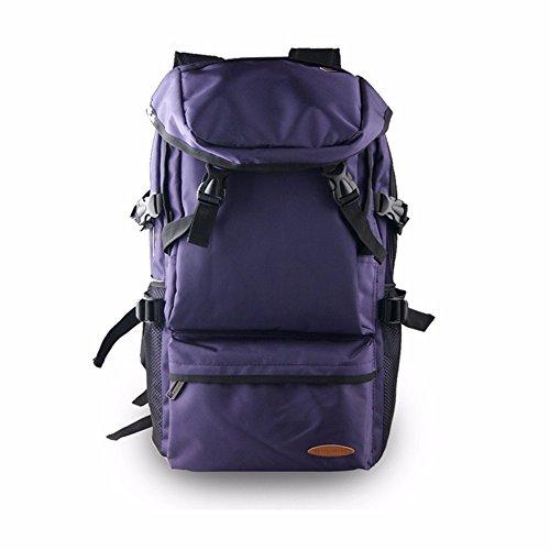 TBB-Alpinismo sacco esterno di grande capacità viaggia zaino borse,grande blu Purple Trumpet