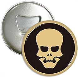 DIYthinker Botella Feliz de Halloween Ahuecado Ronda cráneo abridor imanes Pines Insignia del botón 3pcs Regalo Plata